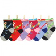 Neska Moda 6 Pairs Kids Multicolor Cotton Ankle Length Socks Age Group 7 To 13 Years