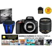 Nikon Kit Cámara Réflex NIKON D3500+AFP DX18/55+EST/EBOOK (24.78 MP - ISO: 100 a 25600 - Sensor: DX)