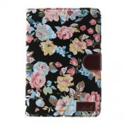 Javu - iPad Mini 1/2/3 Hoes - Wallet Cover Rozen Zwart