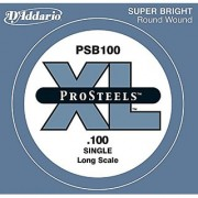D'Addario PSB100 ProSteels Bass Guitar Single String Long Scale .100