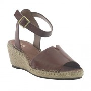 Clarks Women's Petrina Selma Nutmeg Leather Loafers and Moccasins - 7 UK/India (41 EU)