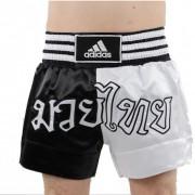 Adidas Thaiboks Short Half Zwart Wit - L