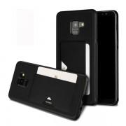 Svart Mobilskydd/ Skal Samsung Galaxy A8 Plus 2018 korthållare