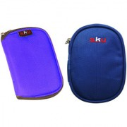 Sky Hard Disk Pouch Combo Lite Blue With Nvy Blue