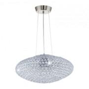 LED lámpa függeszték , mennyezeti , 3 x E27 , acél , króm , kristály , EGLO , CLEMENTE , 95287