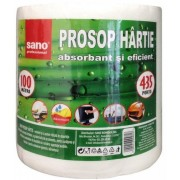 Prosop din hartie ( monorola ), 2 straturi, 100m/rola, SANO