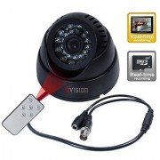 TV-OUT CMOS Night Vision Digital Video Recorder with TF Card Slot Surveillance Camera - Black