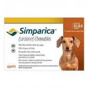 Simparica Flea & Tick Chewables For Dogs 11.1-22 Lbs (Brown) 6 Pack