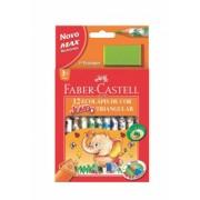 Creioane Colorate 12 Culori Eco Jumbo cu Ascutitoare Faber-Castell