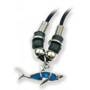 Puzzled Aqua Shark Wild Style Necklace 18 Inch
