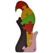 Skillofun Wooden Take Apart Puzzle Large - Parrot, Multi Color