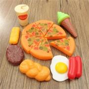 13PCS Plastic Pizza Cola Ice Cream Cutting Play SetChildren Kids Pretend Role Toy Gift