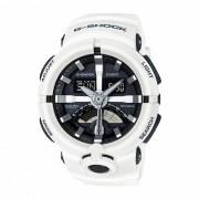casio g-shock GA-500-7A reloj deportivo con resistencia al agua de 200 metros - blanco + negro