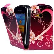 Samsung Galaxy mini 2 S6500 Flora Flip Калъф + Скрийн Протектор