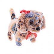Electric Plush Dog Toys with Sounds Walking and Barking Puppy Playthings for Kids(Light Brown)