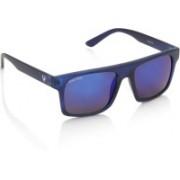 Allen Solly Rectangular Sunglasses(Blue, Violet)