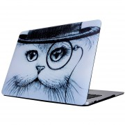 Para MacBook Air De 13,3 Pulgadas (2011 - 2013) A1369 Y A1466 / Md231 / Mc965 / Md760 / Md761 / Mc966 Gato En El Sombrero Patrón Laptop Water Decals PC Estuche Protector