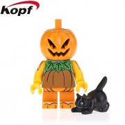 Generic 20Pcs Halloween Building Blocks Bricks Pierce Wedding Ghost Witch Graves Action Figures Education Gift Toy for Children PG1680 PG1428 20Pcs