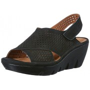 Clarks Women's Clarene Award Black Fashion Sandals - 4 UK/India (37 EU)