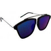 ELS Rectangular Sunglasses(Blue, Green)
