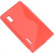 Maxy Ssyl Custodia Tpu Silicone Cover Case Per Lg Optimus L5 E610 Red