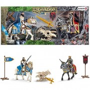 Schleich Eldrador kings on horseback with dragons treasure