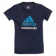 Camiseta Taekwondo Negro/Azul