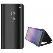 Luxury Series Mirror View Samsung Galaxy Note9 Flip Case - Black