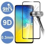 Pelicula de vidro temperado 5D preta para Huawei P40 Lite / P40 Lite E