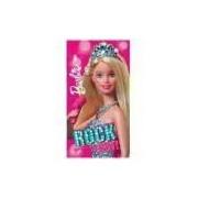 Toalha De Banho Aveludada Transfer Barbie Rock Royals - Lepper
