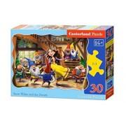 Puzzle Alba ca Zapada si cei sapte pitici, 30 piese