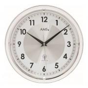 AMS Wandklok zendergestuurd zilverkleurig 30 cm ø 5945