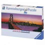 Пъзел от 1000 части - San Francisco, Golden Gate Bridge at Dusk, Ravensburger, 702050