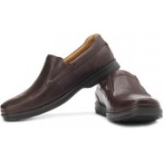 Clarks Scopic Fall Genuine Leather Slip On Shoes For Men(Brown)