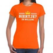 Bellatio Decorations Oranje Biertje ik willem shirt dames