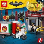 Generic Lepin 07057 Super Heroed Series 204PCS The Scarecrow Pizza Delivery Car Set 70910 Building Blocks Bricks Educational Toys Model