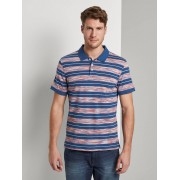 TOM TAILOR Gestreept Polo Shirt, orange spacedye, XXXL
