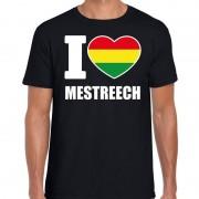 Bellatio Decorations Carnaval I love Mestreech t-shirt zwart voor heren