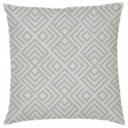 Own Brand Geometric Chevron Print Cushion - Grey - Faux Suede - Grey
