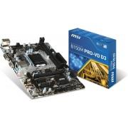 MSI B150M PRO-VD D3 Intel B150 LGA 1151 (Socket H4) ATX