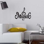 Sticker decorativ de perete Sticky, 260CKY5050, Negru