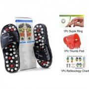 ACCU PADUKA/SLIPPER SPRING SLIPPER ACUPRESSURE MAGNETIC FULL BODY MASSAGE Foot Care Yoga Paduka Massager