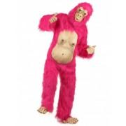 Disfraz gorila rosa adulto Única