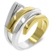 J. Goodin Tutone Unity Cocktail Ring SSR9271TS-V01