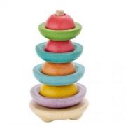 Plan Toys Drewniana wieża do sortowania - wieża na patyku, piramida PLTO-5615