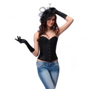 INTIMAX CORSET NEGRO PURPURINA XL