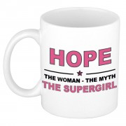 Bellatio Decorations Hope The woman, The myth the supergirl cadeau koffie mok / thee beker 300 ml