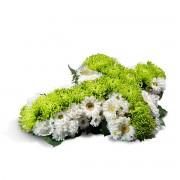 Interflora Cruz Pequena Tons Branco e Verde Interflora
