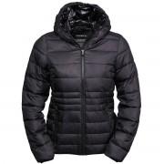 Tee Jays Womens/Ladies Hooded Padded Zepelin Jacket Navy/Grey 3XL