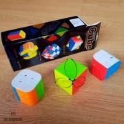 Pack 3 Cubos De Rubik Diferentes Series Cube 3x3 Cilindro Hoja